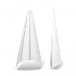 Stiletto Clear Tips - 250 pcs