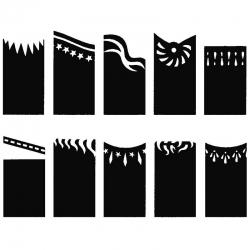 Nail art stencils french